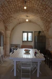 La sala da pranzo del trullo